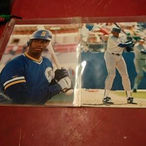 2- 8 x 10 Photos KEN GRIFFEY JR. PLASTIC COVERS